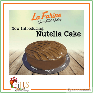 2 LBS Nutella Cake Delivery In Karachi From La Farine Bakery Free Greeting Card
